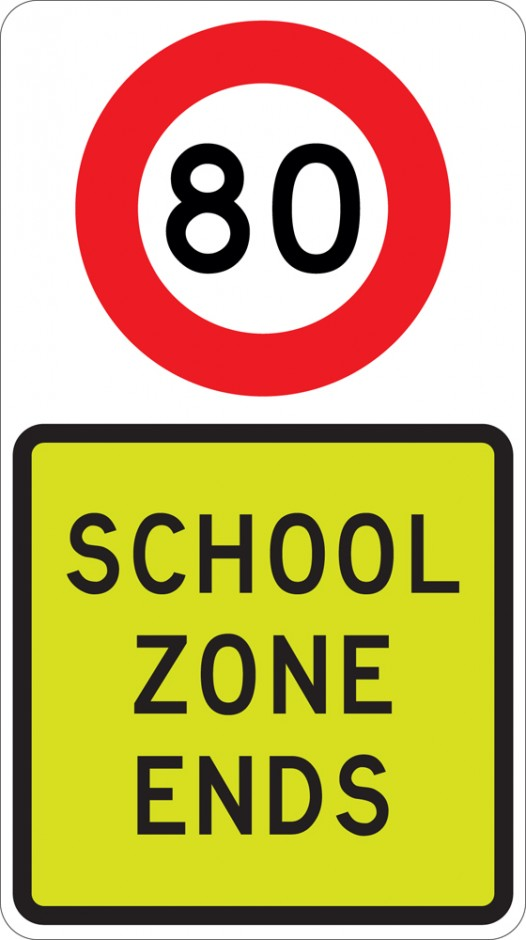 School Zone Ends (with Speed)