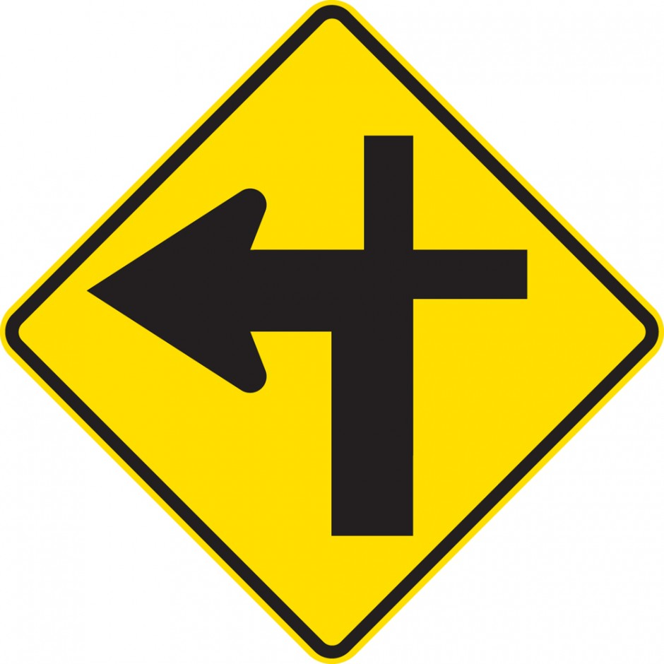 Cross Roads Junction Left  Controlled (priority route turns)