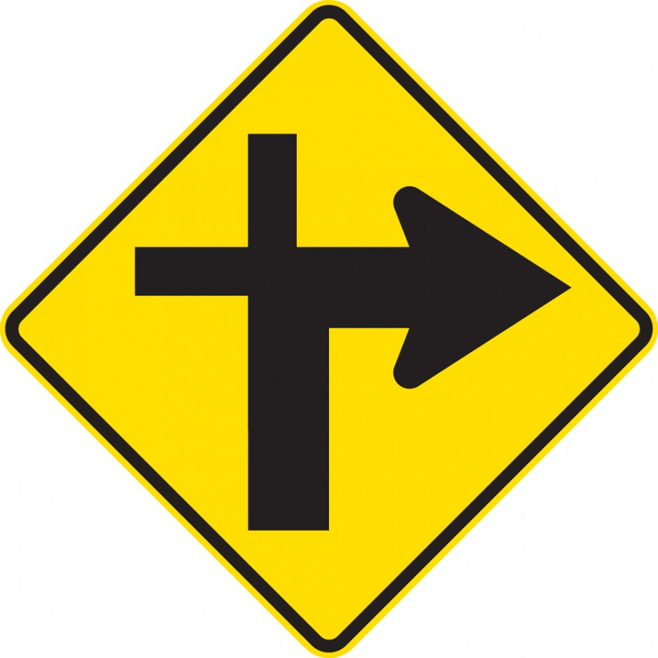 Cross Roads Junction Right  Controlled (priority route turns)
