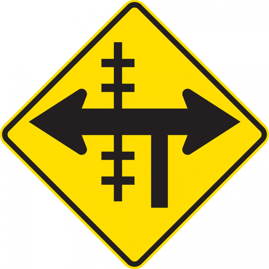 Railway Crossing At T- Junction Controlled - Left