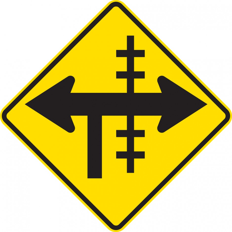 Railway Crossing At T- Junction Controlled - Right