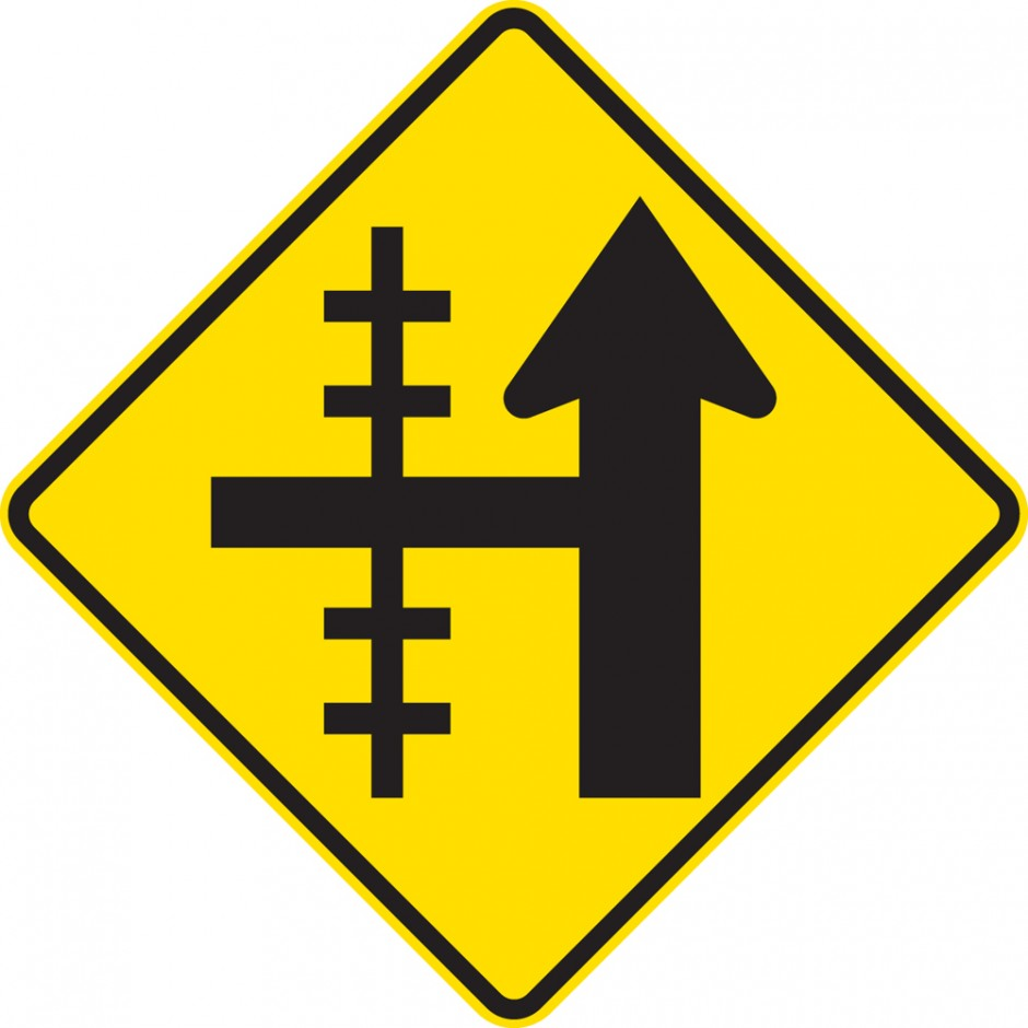 Railway Crossing On Side Road Controlled Junction - Left