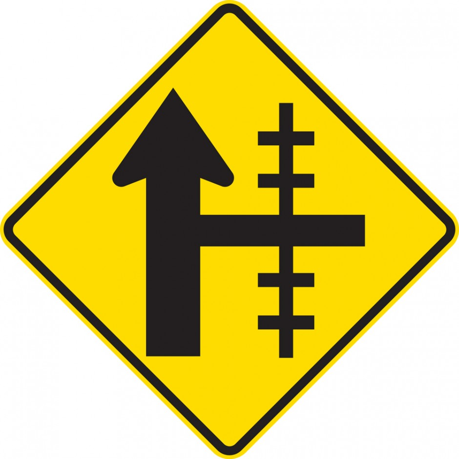 Railway Crossing On Side Road Controlled Junction - Right