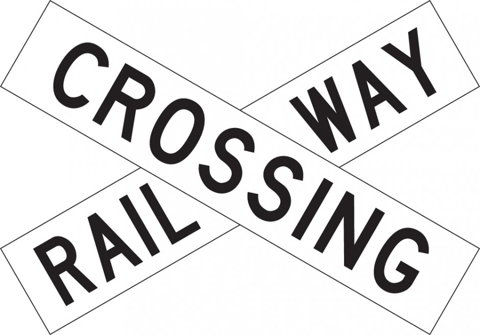"Crossbuck - ""Railway Crossing"""