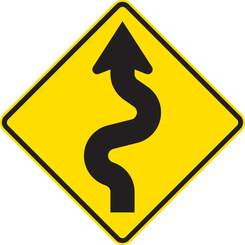 Reverse Curves Left (less than 1km in extent)