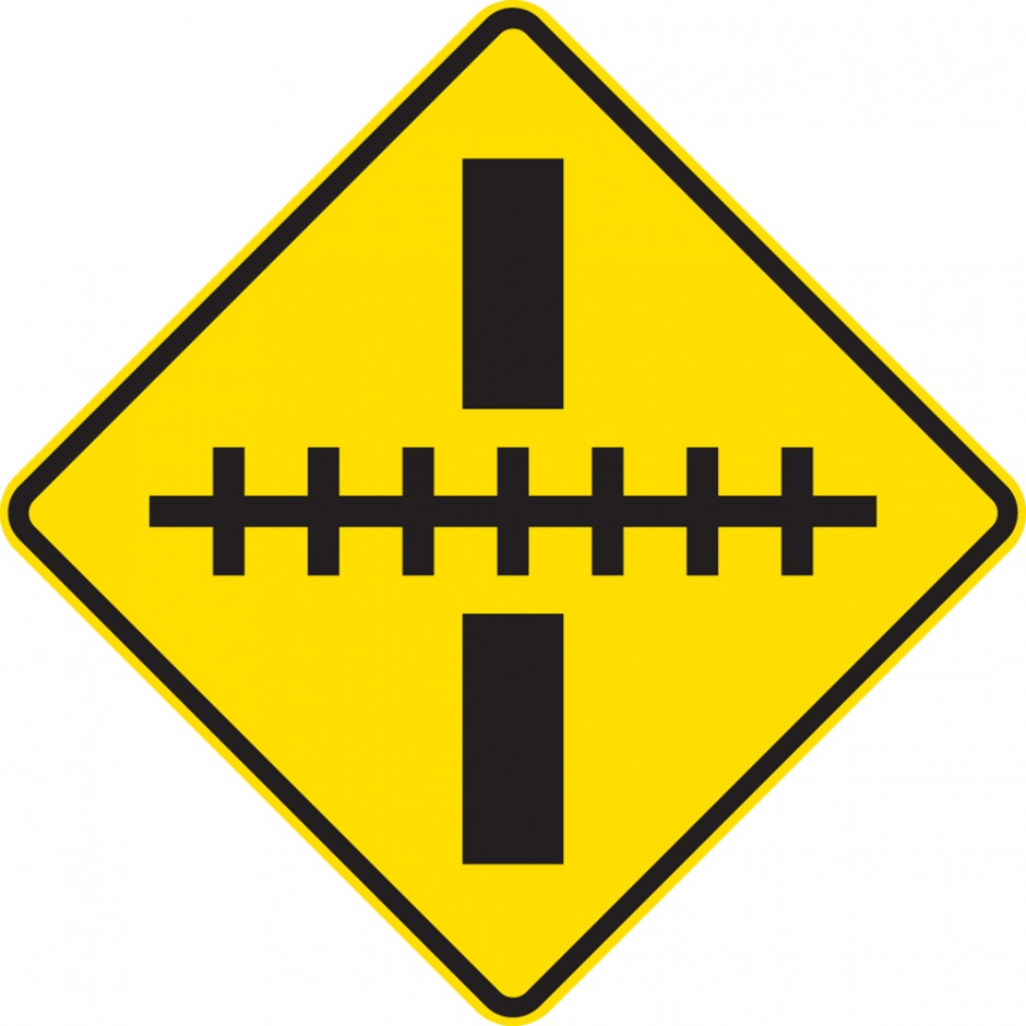 Railway Level Crossing - Right Angle