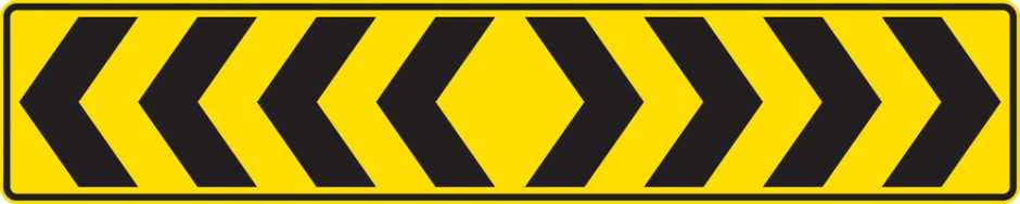 PW 68 T-Intersection Chevron