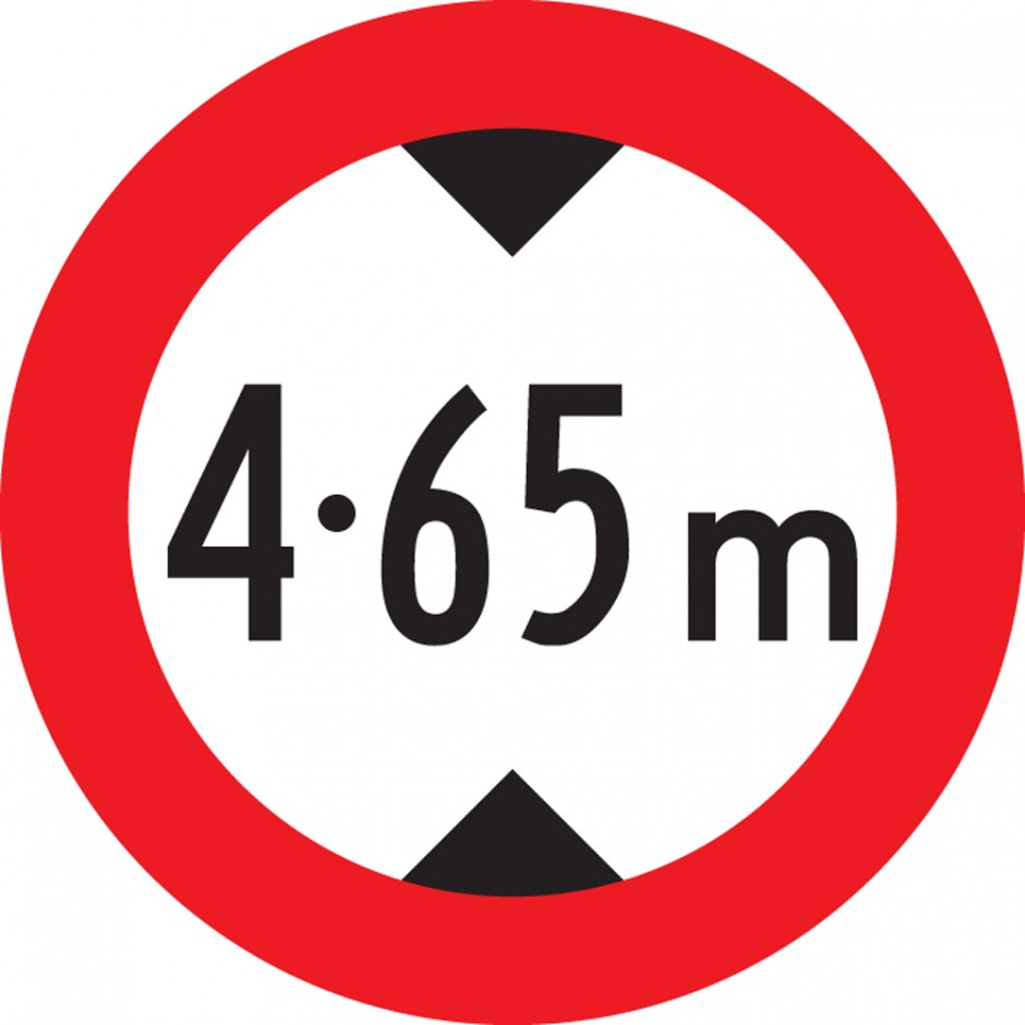RG-21 Height Restriction - Two decimals