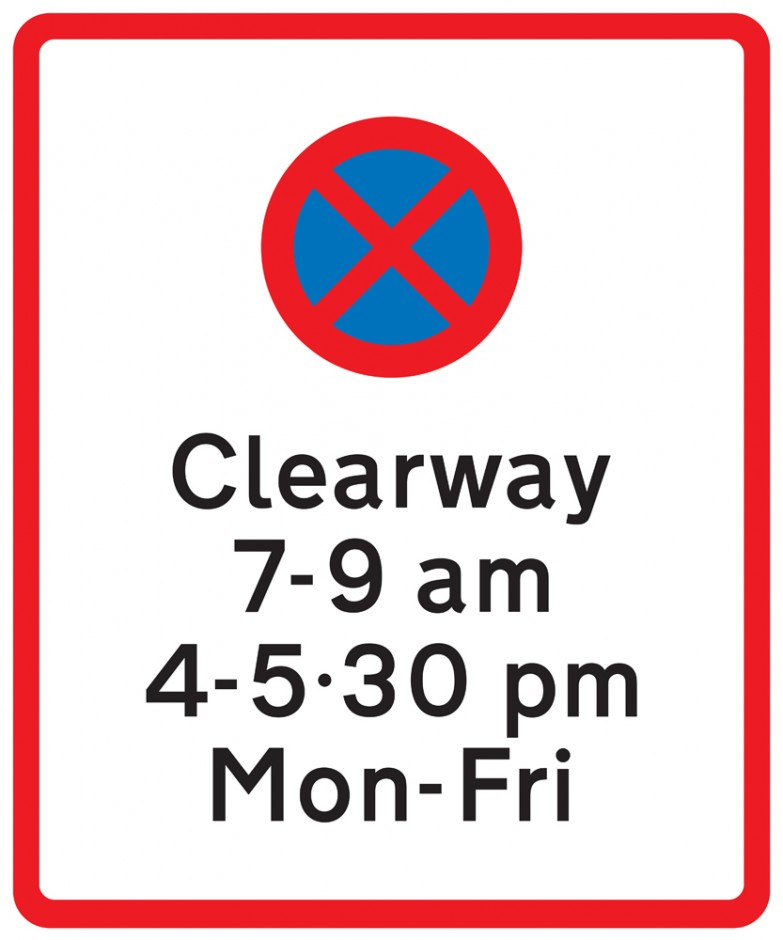 Clearway - In Conjunction With Parking Restriction