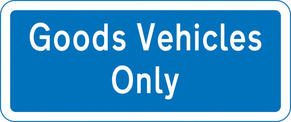 Loading Zone Supplementary - Goods Vehicles Only