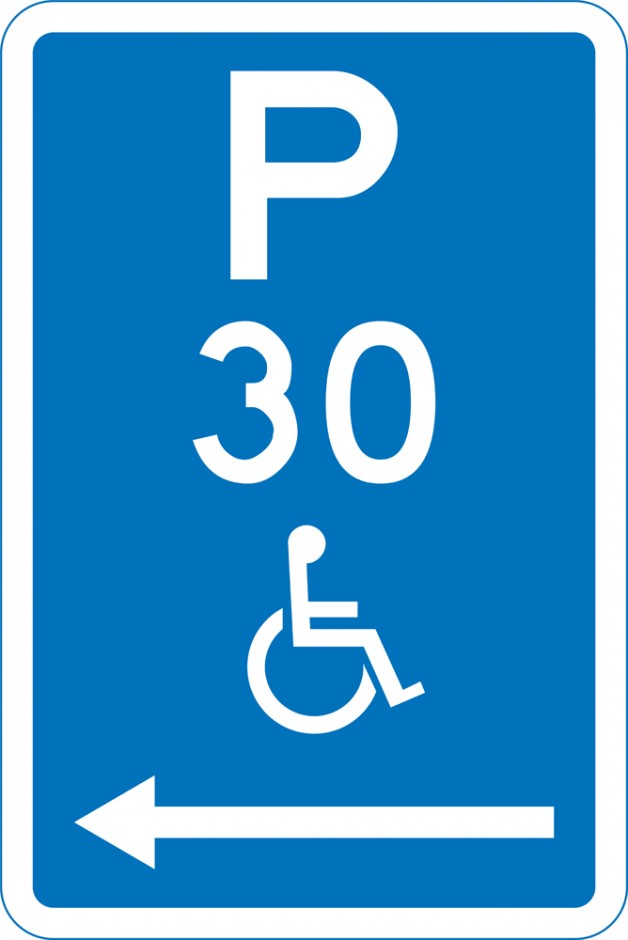 Disabled Parking Time Restricted P30 (With Arrows)