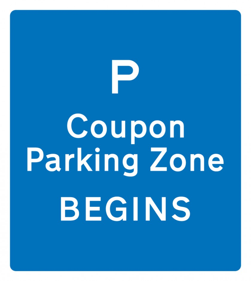 Coupon Parking Zone - Begins / Ends