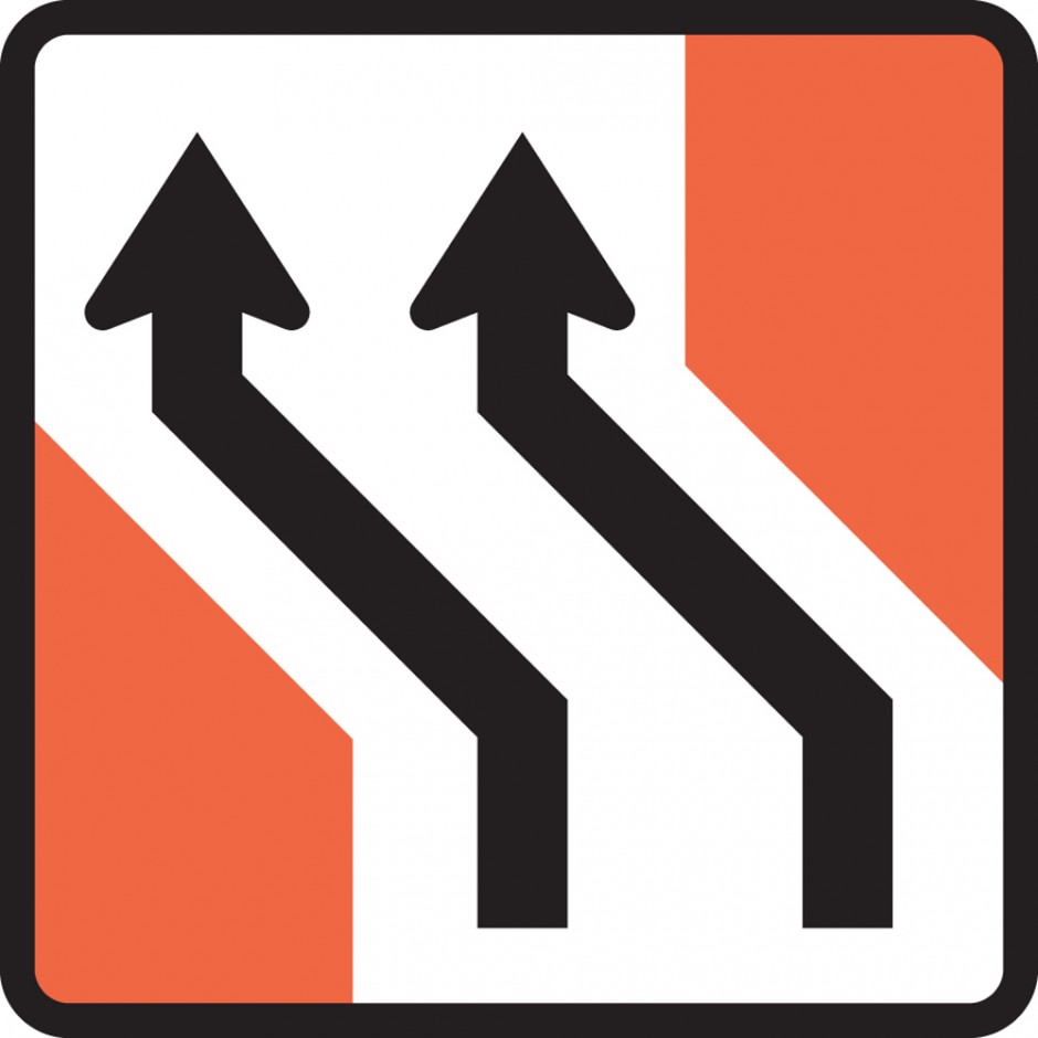Two Lane One Way Road (left)