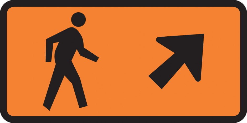 Pedestrian Direction - Veer Right