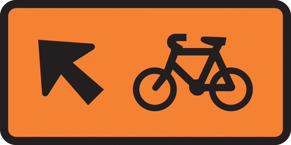 Cyclist Direction - Veer Left