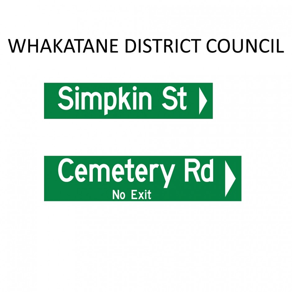 Street Name Blades - Whakatane District Council (WDC)