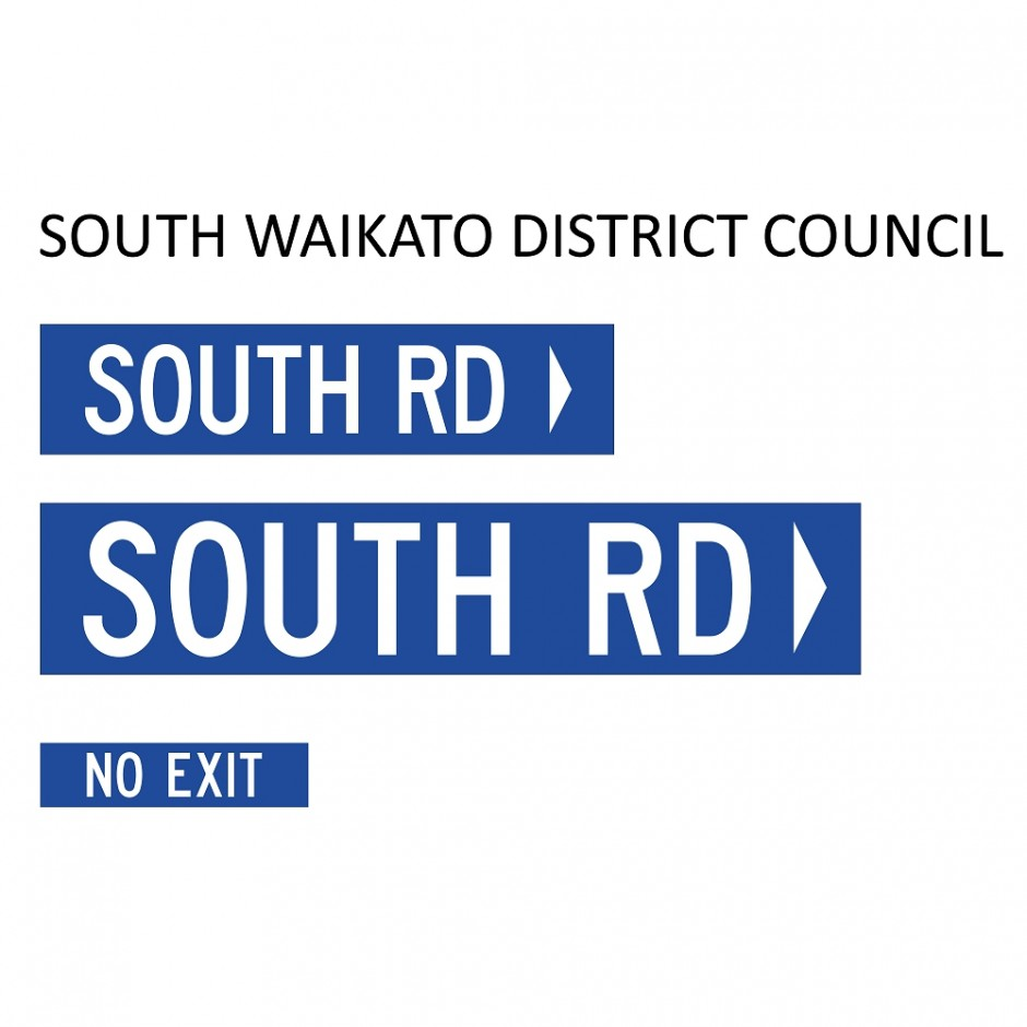 Street Name Blades - South Waikato District Council (SWDC)