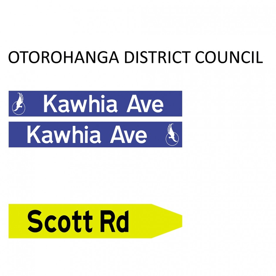 Street Name Blades - Otorohanga District Council (ODC)