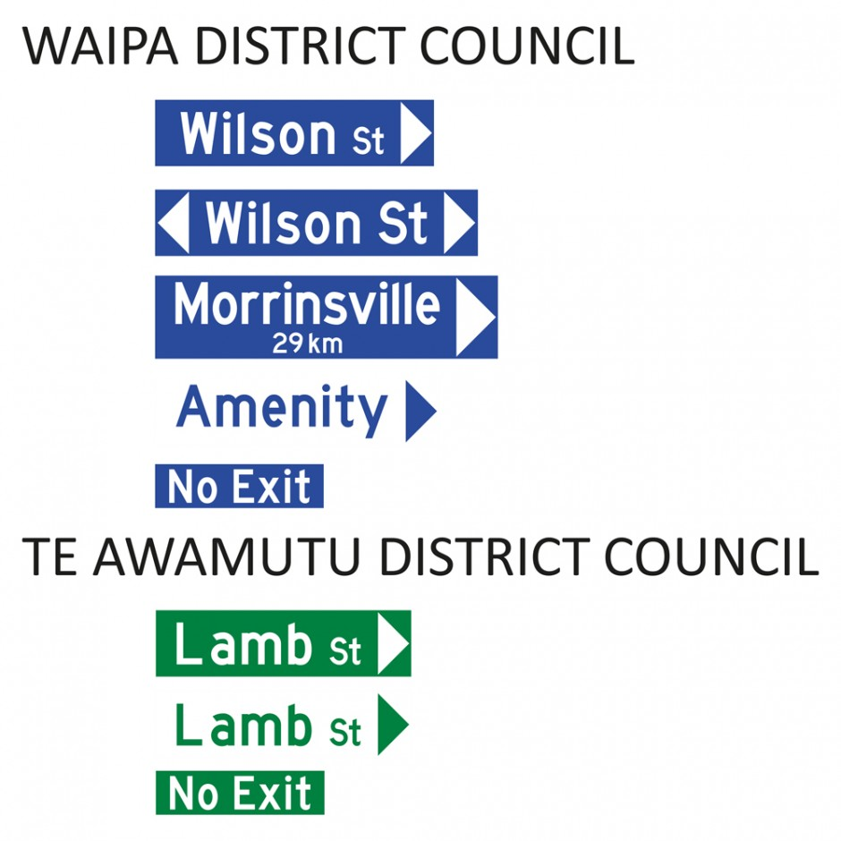 Street Name Blades - Waipa District Council (WDC)