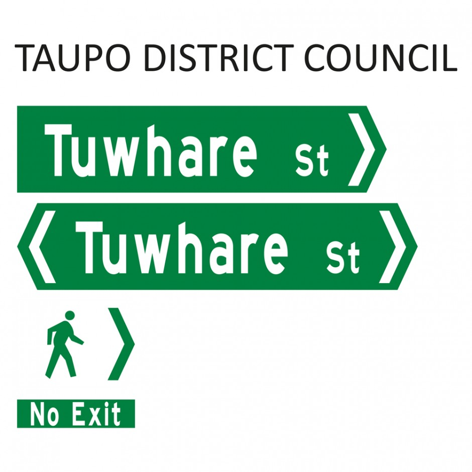 Street Name Blades - Taupo District Council (TDC)