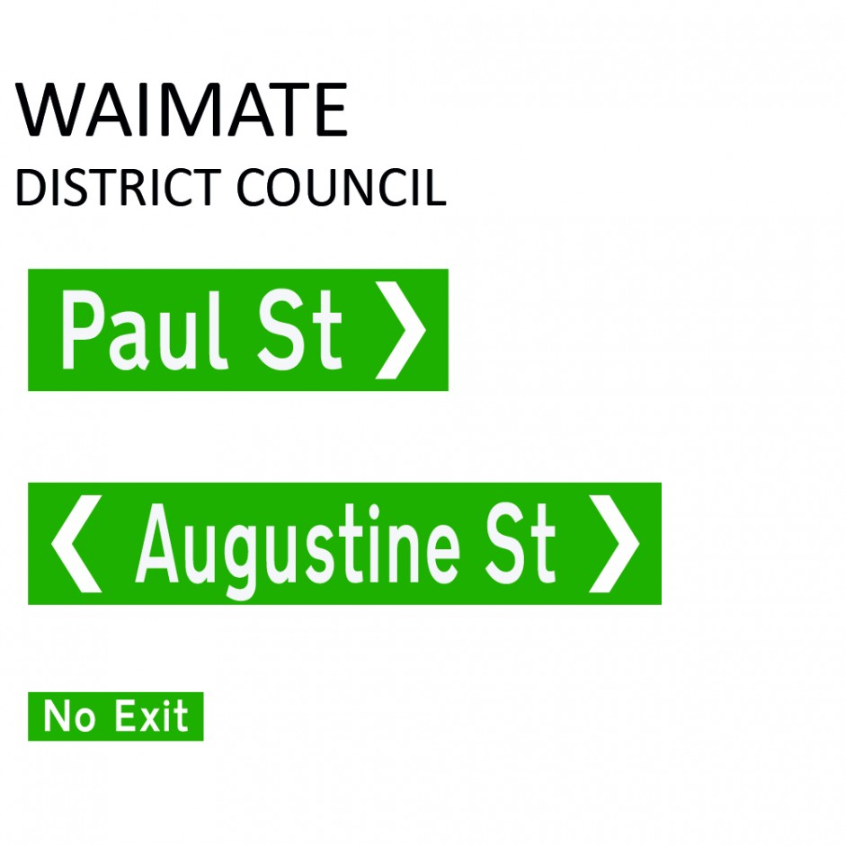 Street Name Blades - Waimate District Council (WDC)