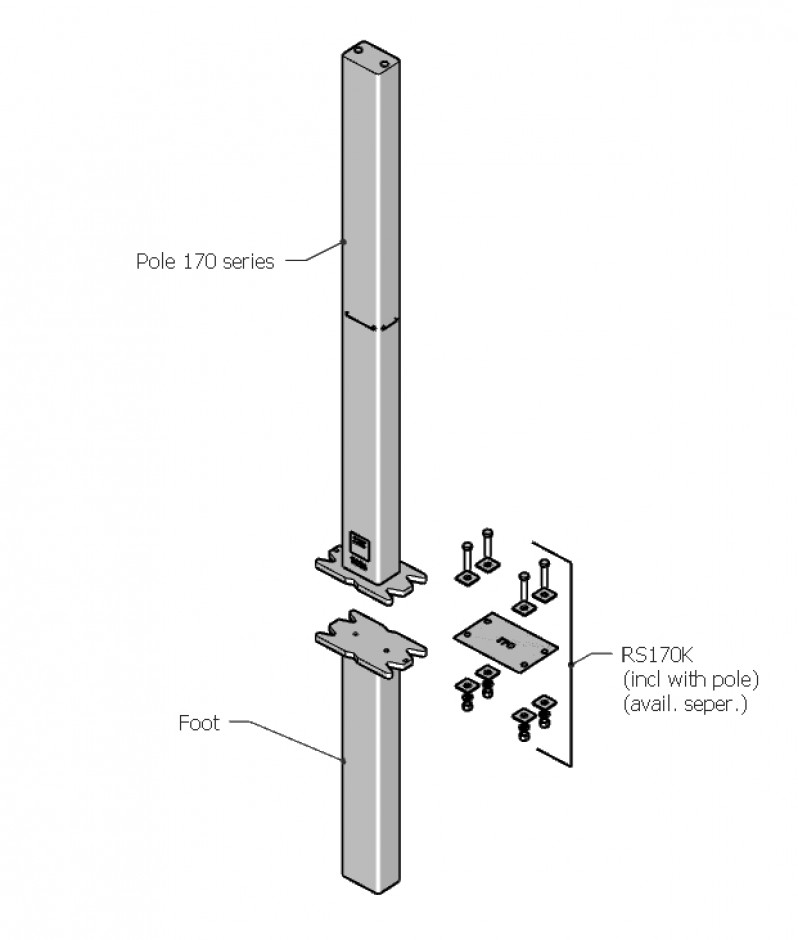Necklen Poles - 170 Series