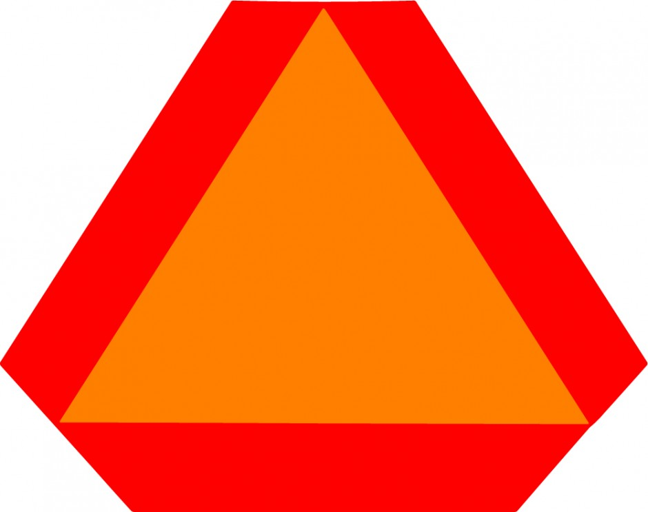 Slow Moving Safety Triangle