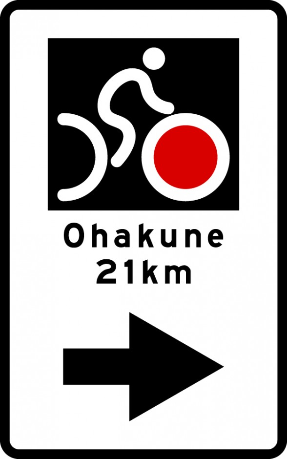 NZ Cycle Trail (NZCT) Route Arrow + Destination