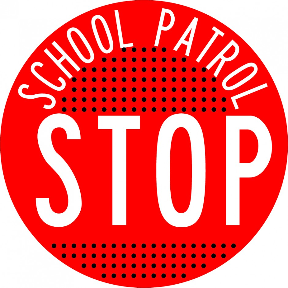Orange School Patrol Disc Only (Perforated)