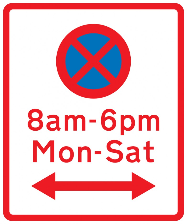 No Stopping Symbol with Times (With Arrows)