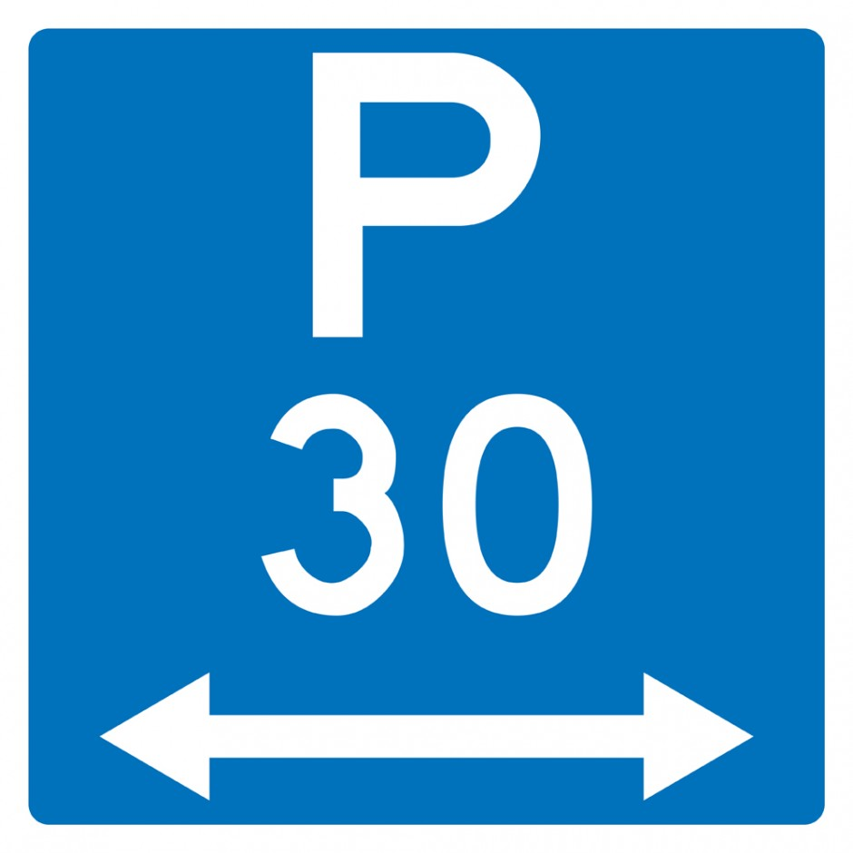Restricted Parking Time Restricted P30 (With Arrows)