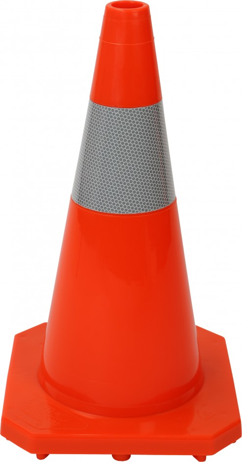 450mm One Piece PVC Roadmarking Cone