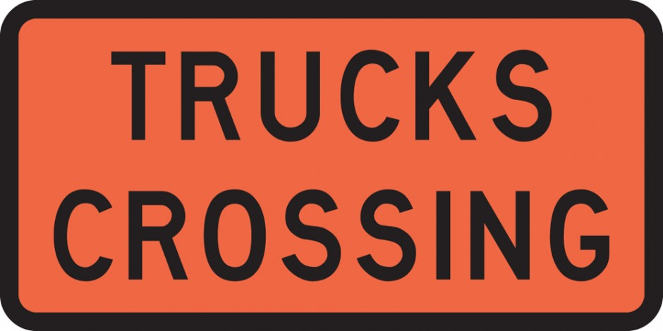 Trucks Crossing (Roll up Signs)
