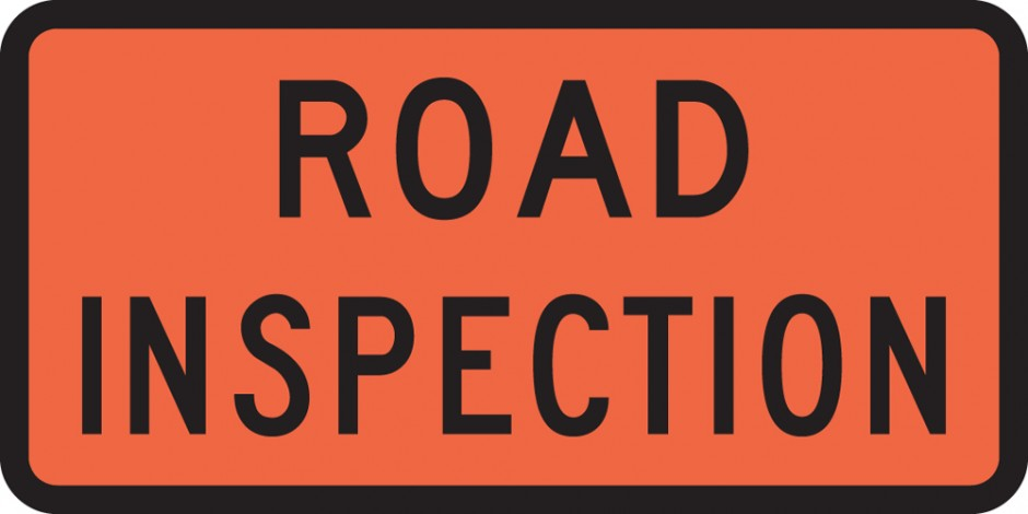 Road Inspection (Roll up Signs)