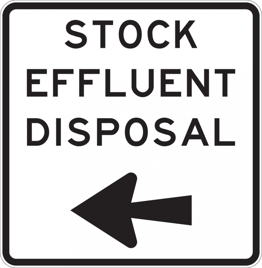 "Stock Effluent Disposal Ahead - ""___"" m"