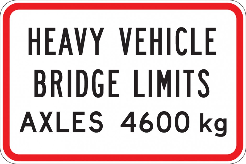 Heavy Vehicle Bridge Limit - One Panel