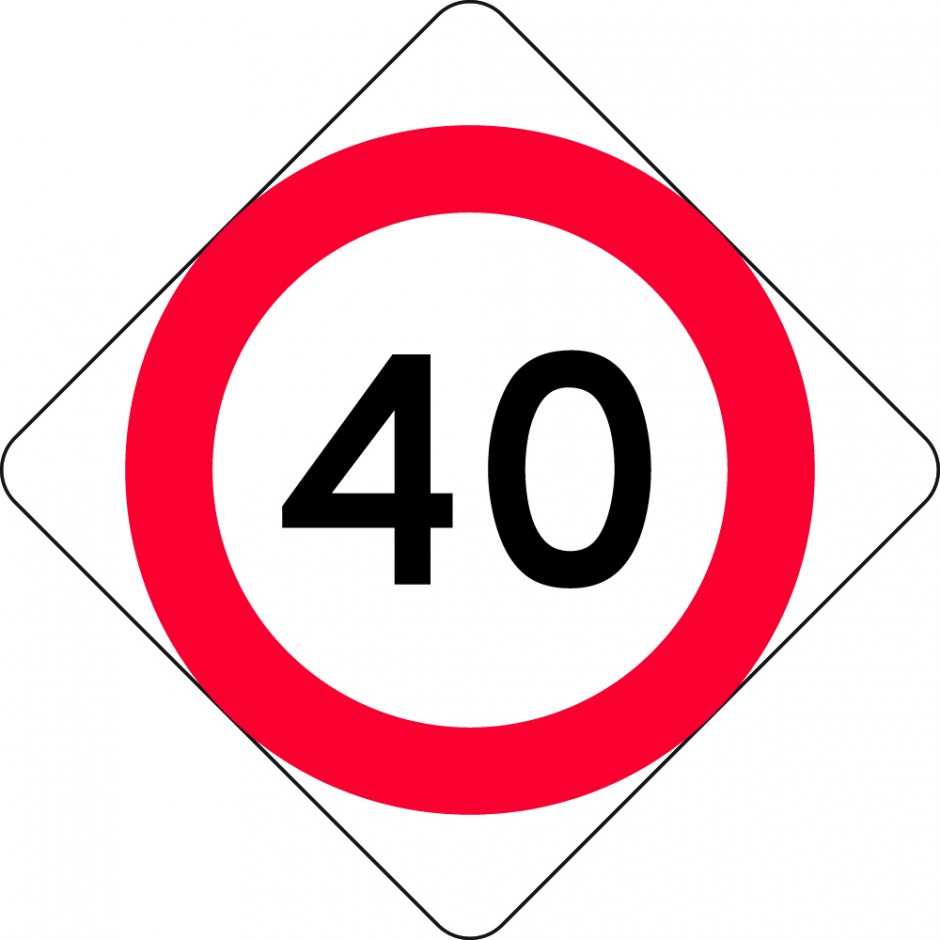 Speed Restriction Level 1 (MKL) - 40km