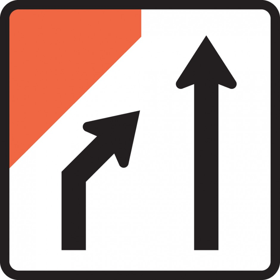 Two Lane One Way Road Closed (left) (MKL Tuflite)