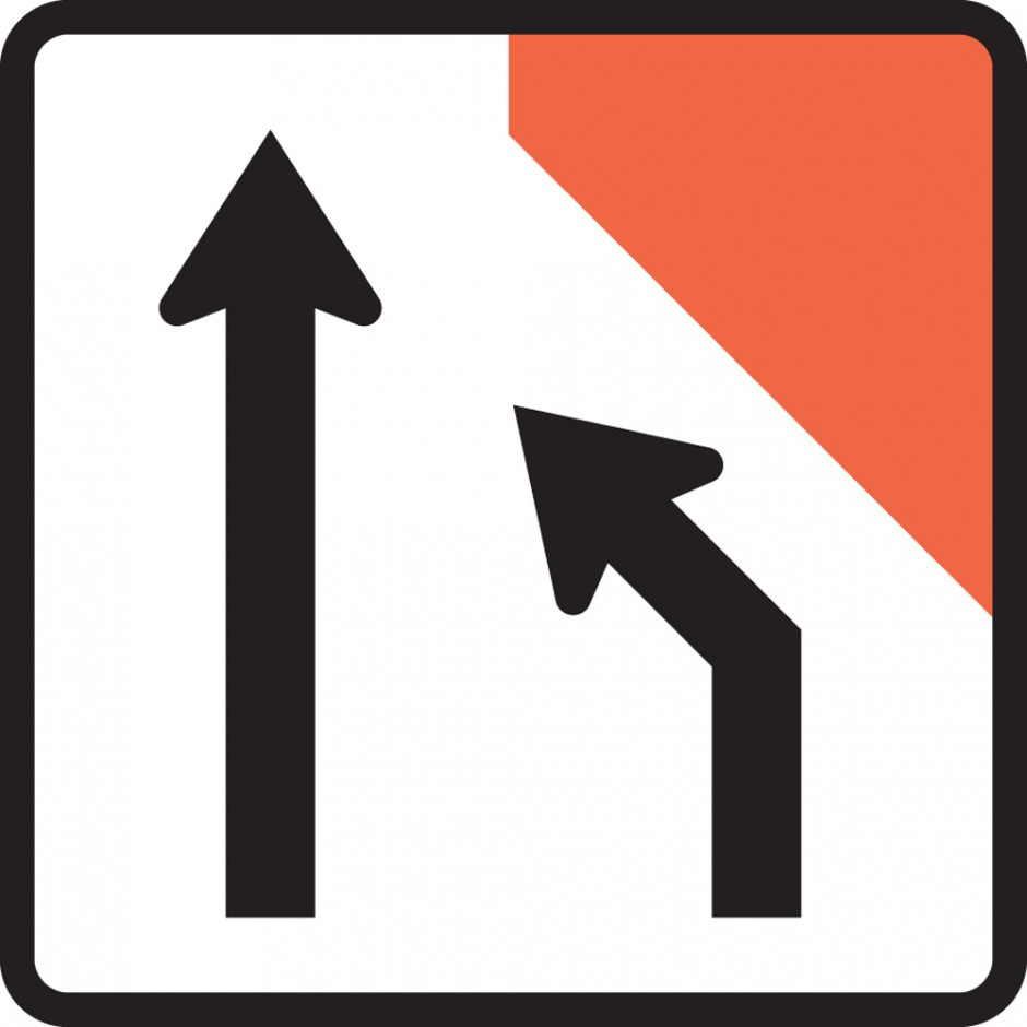 Two Lane One Way Road Closed (right) (MKL Tuflite)