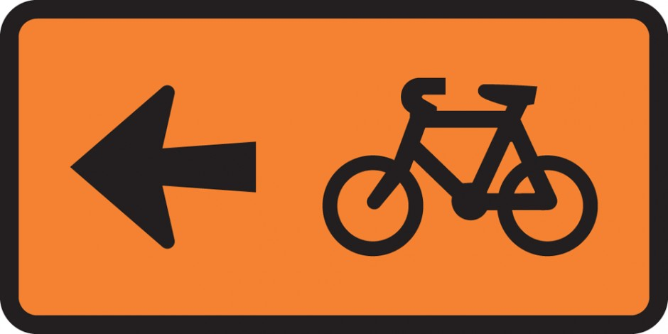 Cyclist Direction - Turn Left Supp (Tuflite)