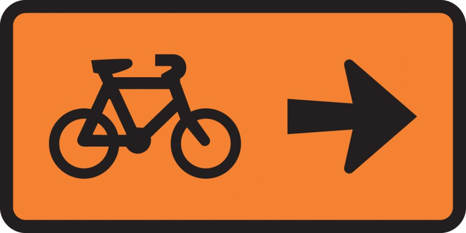 Cyclist Direction - Turn Right Supp (Tuflite)