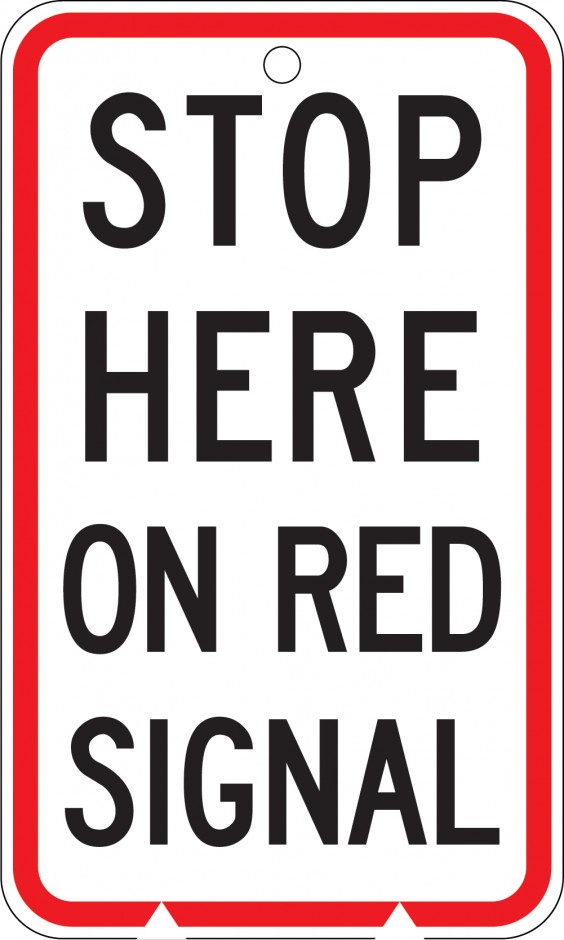 Stop Here on Red Signal (MKL)
